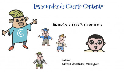 Andrés y los  3 cerditos. Cuento interactivo personalizable Sumun.