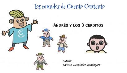 Andrés y los  3 cerditos. Cuento personalizable premium.